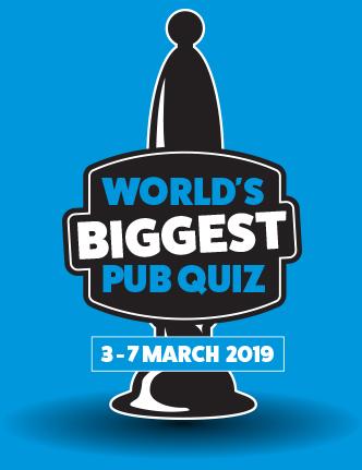 Worlds biggest pub quiz - Pubaid and Prostate Cancer